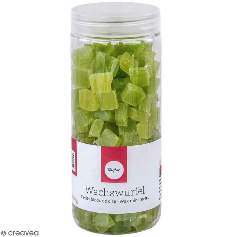 Petits blocs de cire à bougie - Vert pomme - 200 g - Photo n°1