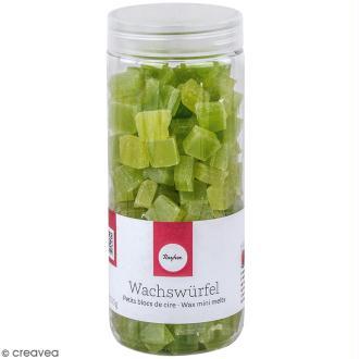 Petits blocs de cire à bougie - Vert pomme - 200 g