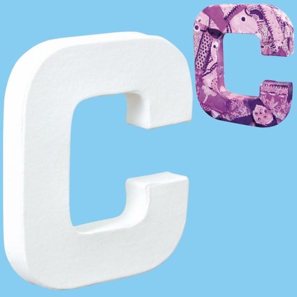 Lettre en carton mini 12 cm C - Photo n°1