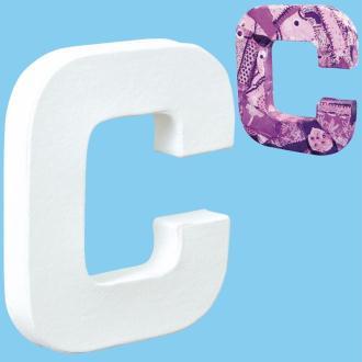 Lettre en carton mini 12 cm C