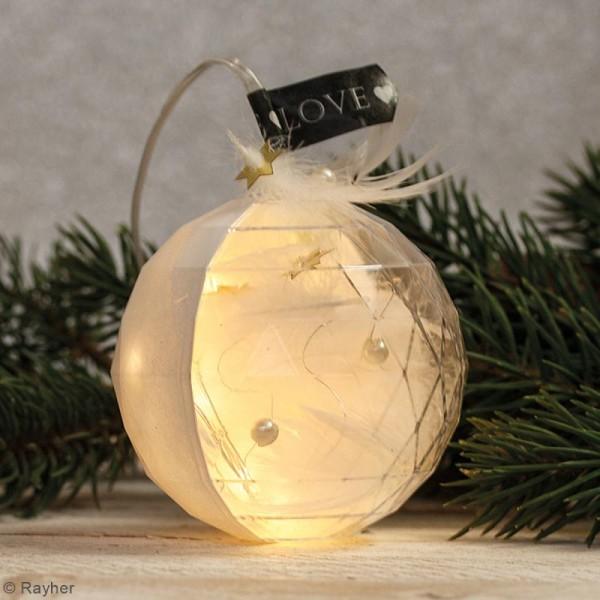 Boule plastique transparente Noël - facettée - 8 cm - 1 pce - Photo n°4