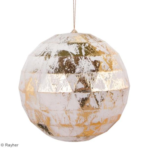 Boule plastique transparente Noël - facettée - 8 cm - 1 pce - Photo n°5