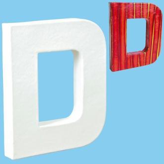 Lettre en carton mini 12 cm D