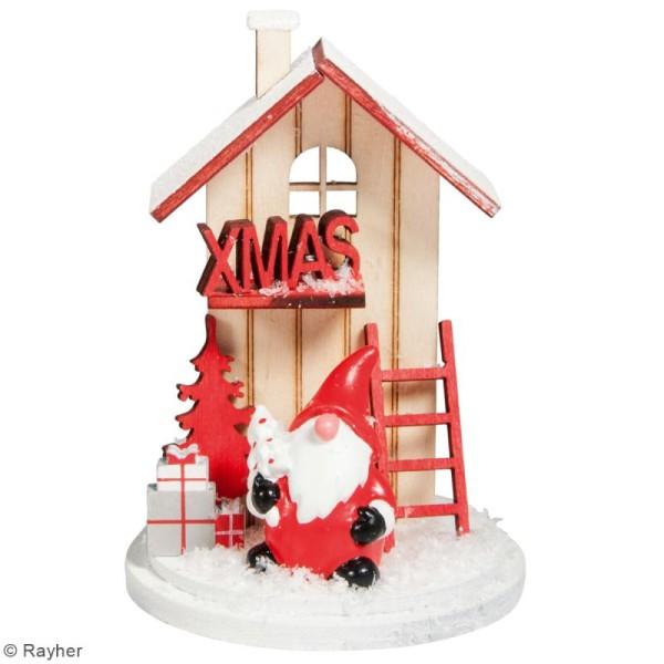 Mini Décor 3D sur socle à monter - Père Noël rouge - 8 pcs - Photo n°2