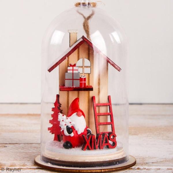 Mini Décor 3D sur socle à monter - Père Noël rouge - 8 pcs - Photo n°3
