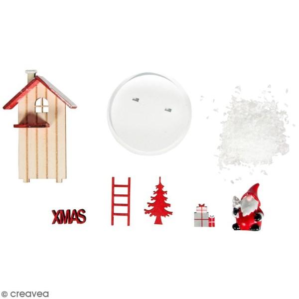Mini Décor 3D sur socle à monter - Père Noël rouge - 8 pcs - Photo n°1