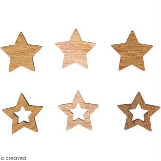 Miniatures en bois - Etoiles - 2 cm - 24 pcs