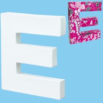 Lettre en carton mini 12 cm E