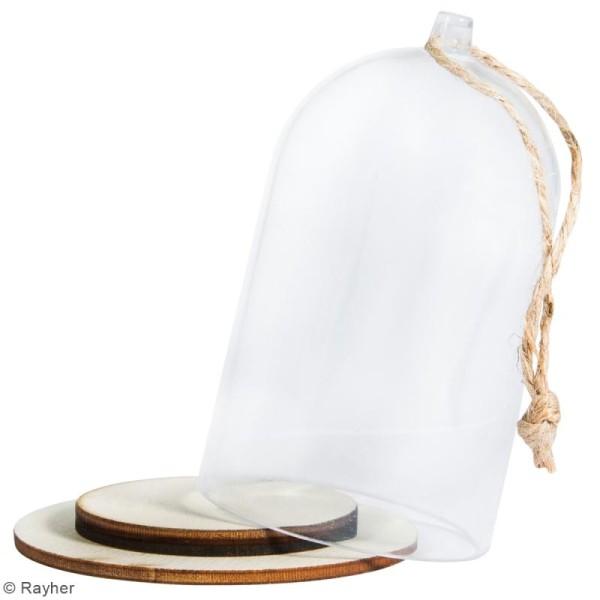 Cloche en plastique avec socle Rayher - 5 x 9 cm - Photo n°3