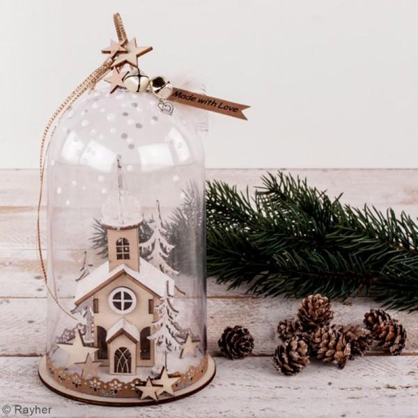 Kit décor 3D à monter - Église de Noël - 13 cm - Photo n°2