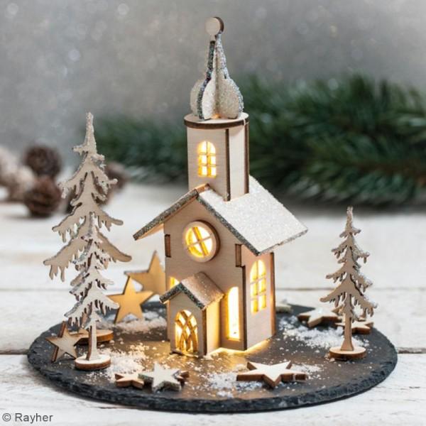 Kit décor 3D à monter - Église de Noël - 13 cm - Photo n°3