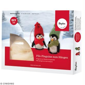 Kit feutrine - Pingouins à suspendre - 2 pcs
