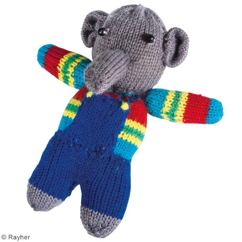 Kit tricot - Elephant en laine - 15 cm - Photo n°2