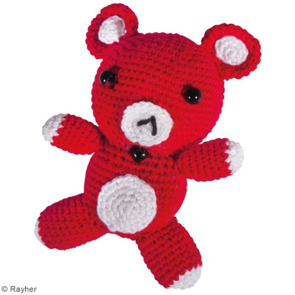 Kit crochet - Petit ours - Rouge - Photo n°2