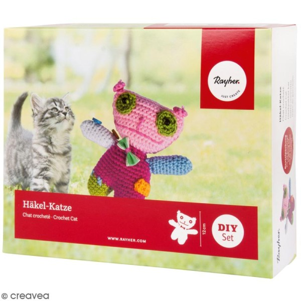 Kit crochet - Chat - Multicolore - Photo n°1