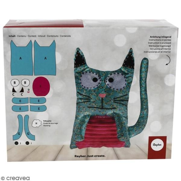 Kit couture - Chat en tissu - 28 cm - Photo n°2