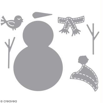 Matrice de découpe Bonhomme de neige - 4,5 x 9 cm