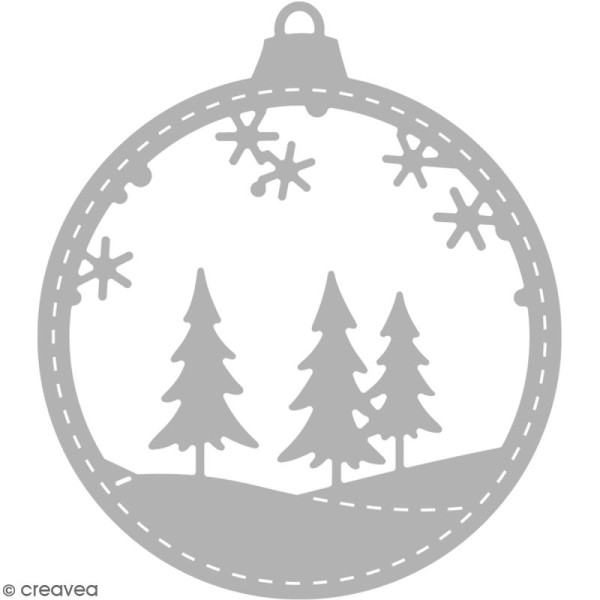 Matrice de découpe Boule Noël - 6,5 x 7,5 cm - Photo n°1
