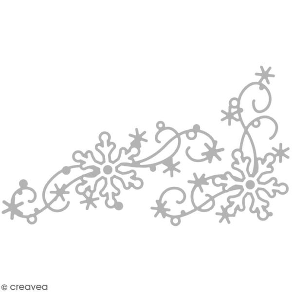 Matrice de découpe Décor flocons de neige - 6,5 x 11,5 cm - Photo n°1