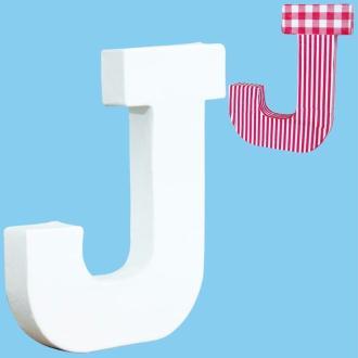 Lettre en carton mini 12 cm J