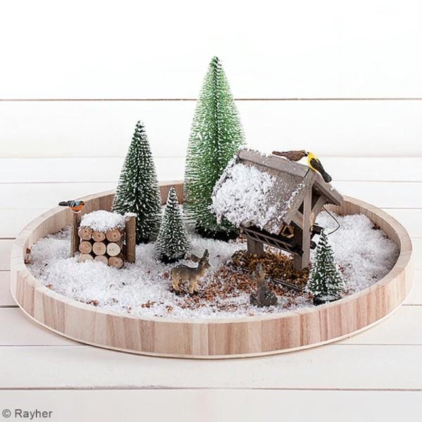 Lot de Sapins décoratifs Rayher - Enneigés - 10 cm - 4 pcs - Photo n°2
