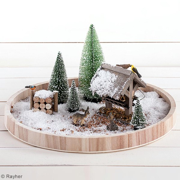 Lot de Sapins décoratifs Rayher - Enneigés - 15 cm - 3 pcs - Photo n°3