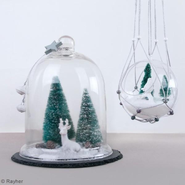 Lot de Sapins décoratifs Rayher - Enneigés - 15 cm - 3 pcs - Photo n°4