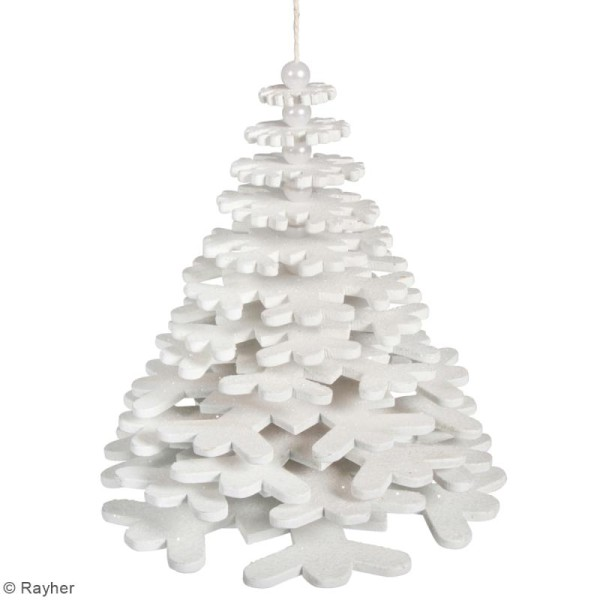 Kit suspension flocons de neige à faire soi-même - 13 x 16 cm - Photo n°2