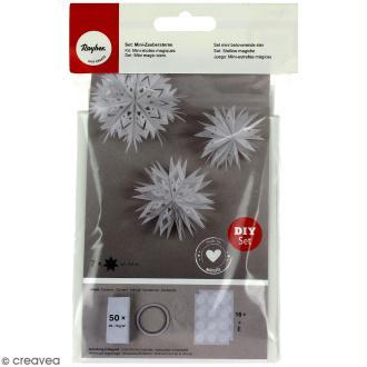 Kit Mini-étoiles magiques sacs en papier - Blanc - 5,5 à 11 cm