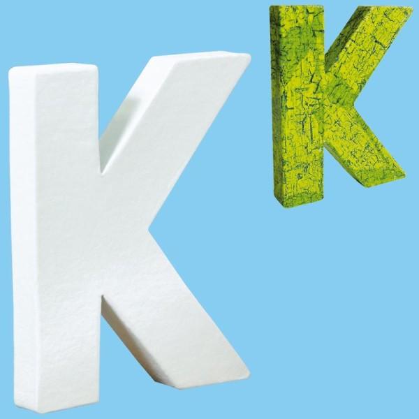 Lettre en carton mini 12 cm K - Photo n°1