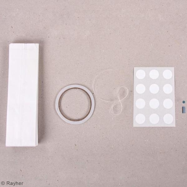 Kit étoiles magiques sacs en papier - Blanc - 31 à 46 cm - Photo n°3
