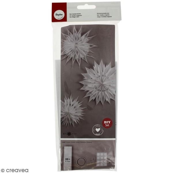 Kit étoiles magiques sacs en papier - Blanc - 31 à 46 cm - Photo n°1