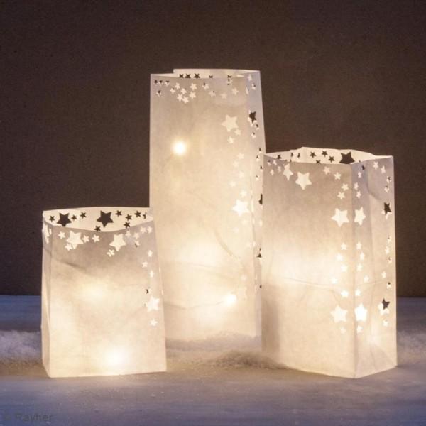 Kit lampions et arcs magiques sacs en papier - Blanc - 47 cm - Photo n°2
