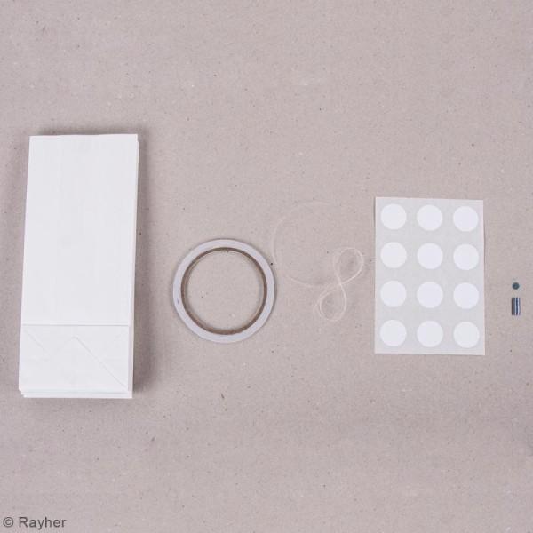 Kit lampions et arcs magiques sacs en papier - Blanc - 47 cm - Photo n°3