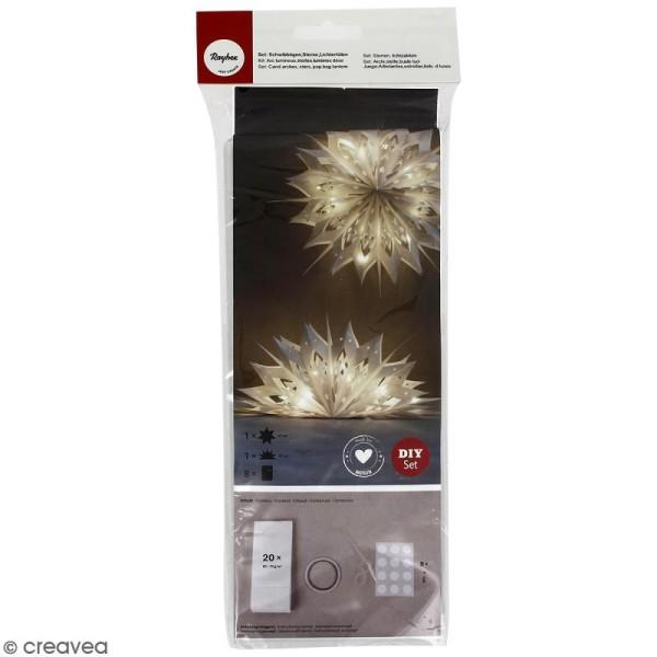 Kit lampions et arcs magiques sacs en papier - Blanc - 47 cm - Photo n°1