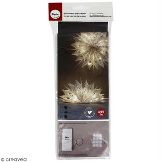 Kit lampions et arcs magiques sacs en papier - Blanc - 47 cm