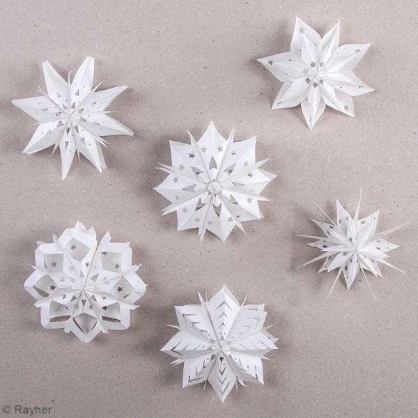 Kit Mini-étoiles magiques sacs en papier - Blanc - 10 à 12 cm - Photo n°2