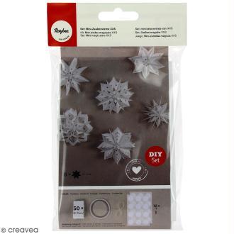 Kit Mini-étoiles magiques sacs en papier - Blanc - 10 à 12 cm