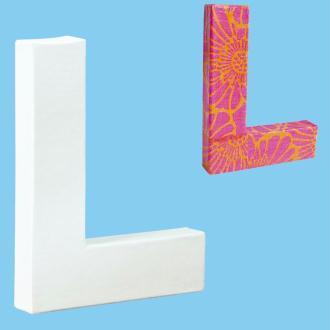 Lettre en carton mini 12 cm L