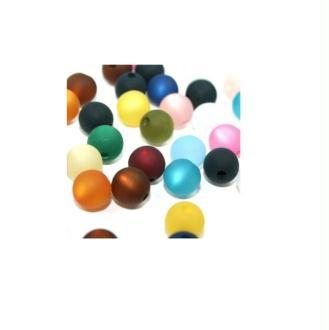 Assortiment perles polaris rondes - 8 mm x 50 pcs