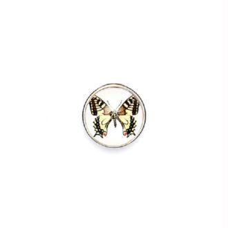 Bouton pression à clipser Clixy Papillon jaune clair 18 mm