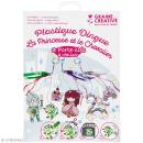Kit plastique dingue - La princesse et le chevalier - 3 portes-clés - Photo n°1