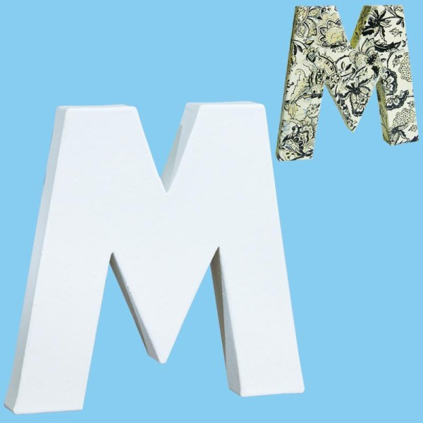 Lettre en carton mini 12 cm M - Photo n°1