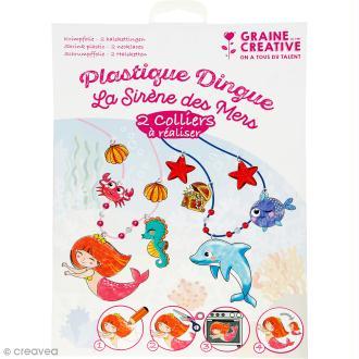 Kit plastique dingue - La sirène des mers - 2 colliers