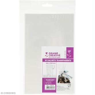 Sachets transparents plats - 14 x 23 cm - 10 sachets