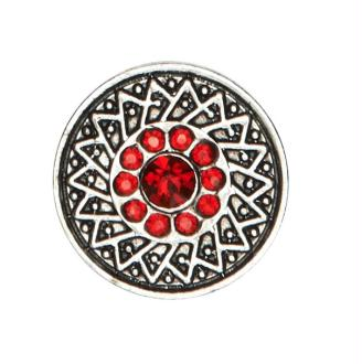 Bouton pression à clipser Clixy Siam strass rouge 20 mm