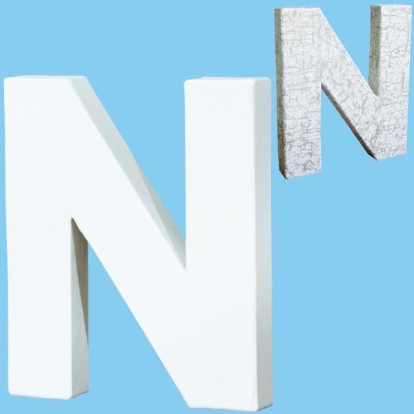 Lettre en carton mini 12 cm N - Photo n°1