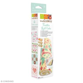 Feuilles Roll' Cake Fleurs et amour - 6 pcs