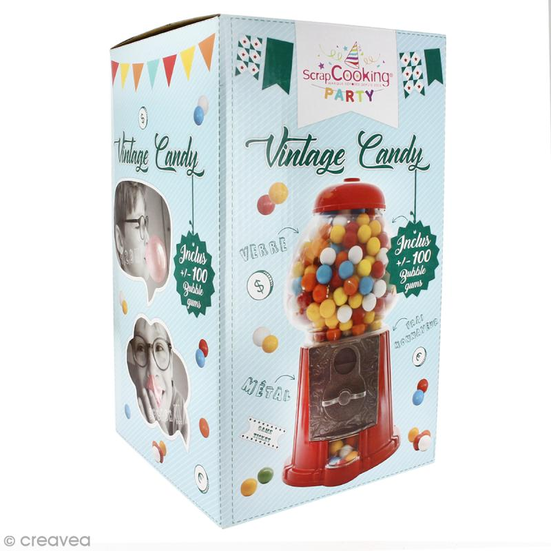 Distributeur de bonbons Vintage Scrapcooking - boules de bubble gum incluses - Photo n°2