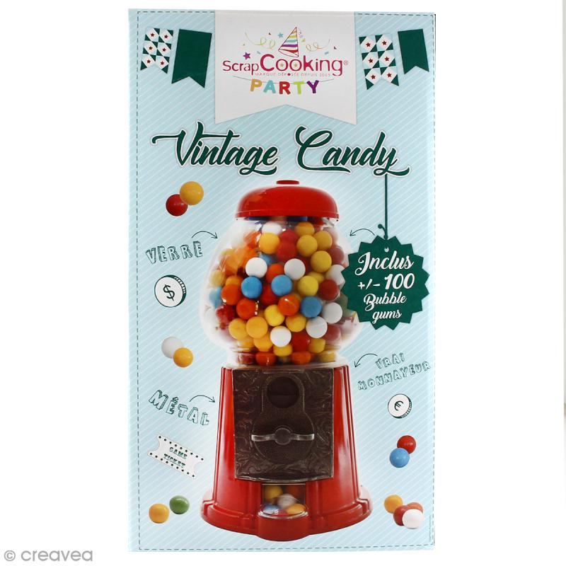 Distributeur de bonbons Vintage Scrapcooking - boules de bubble gum incluses - Photo n°1